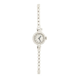 14K Platinum Diamond Glycine Wristwatch