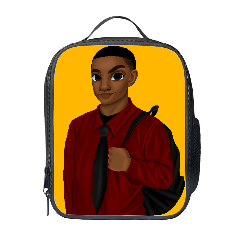Melanated Excellence (Male) Lunch Bag