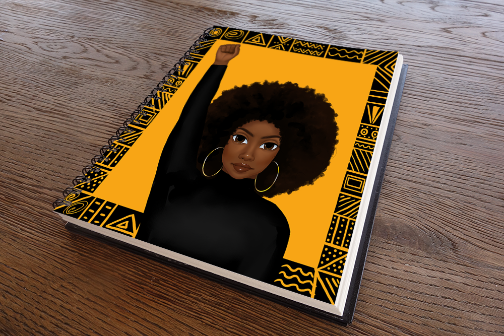Unapologetically Black Female Notebook