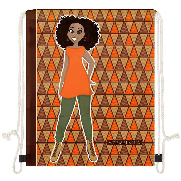 Outstanding In Orange Drawstring Bag
