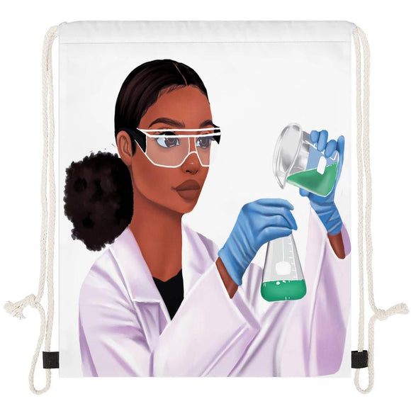 Scientist (Female) Drawstring Bag