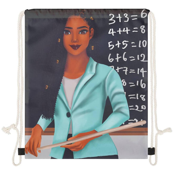 Teacher (Female) Drawstring Bag