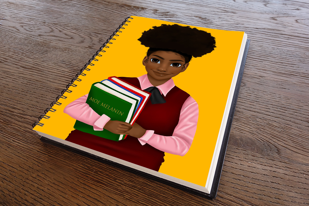 Melanated Excellence Female Notebook
