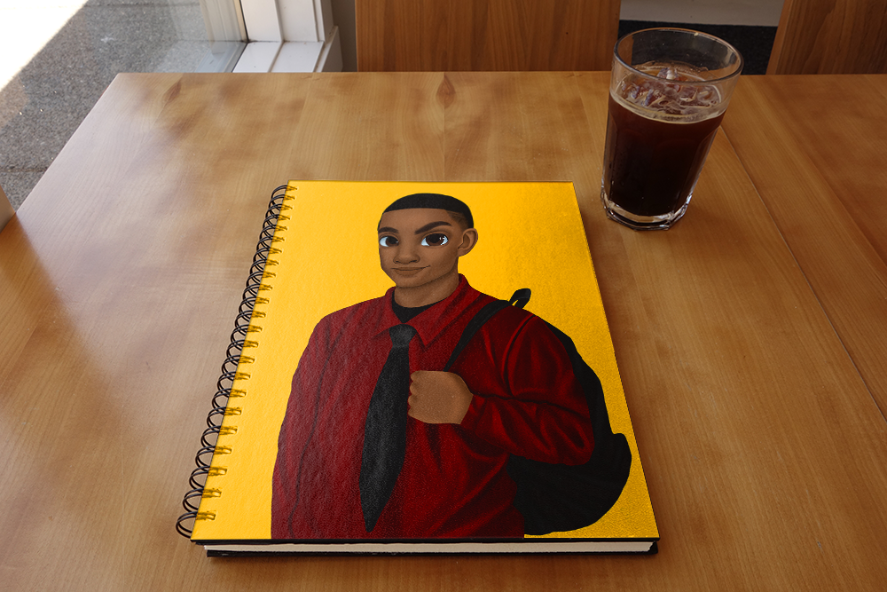Melanated Excellence Male Notebook