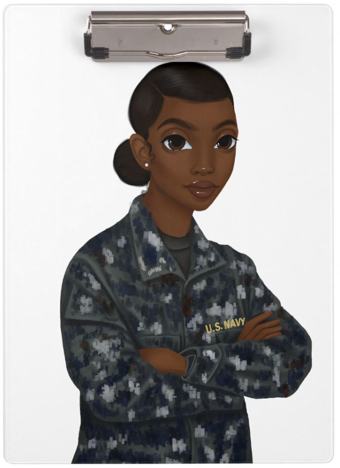 Navy Female Clipboard