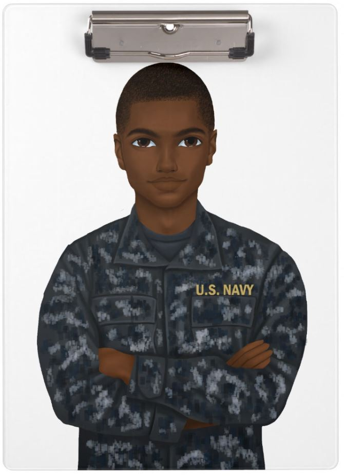 Navy Male Clipboard
