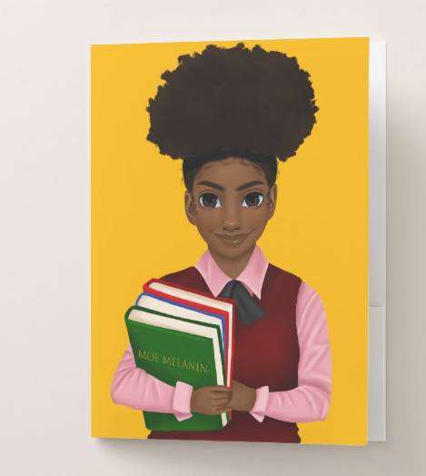 Melanated Excellence Female Pocket Folder