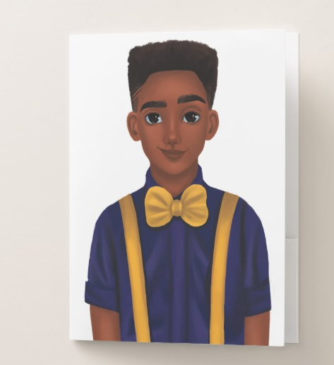 Bow Tie Brandon Pocket Folder