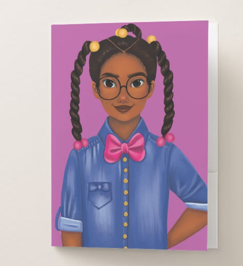 Bow Tie Breanna Pocket Folder