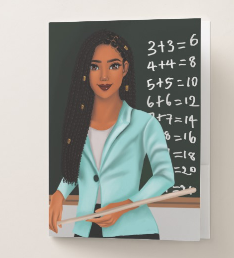 Teacher Female Pocket Folder