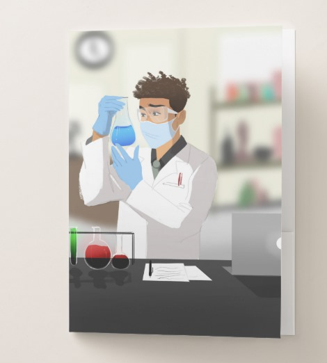 Scientist Male Pocket Folder