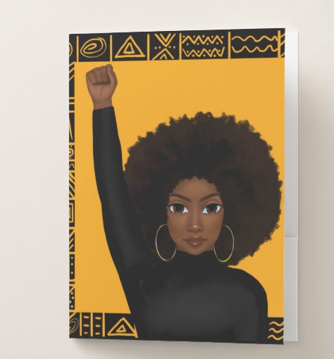 Unapologetically Black - Female Pocket Folder