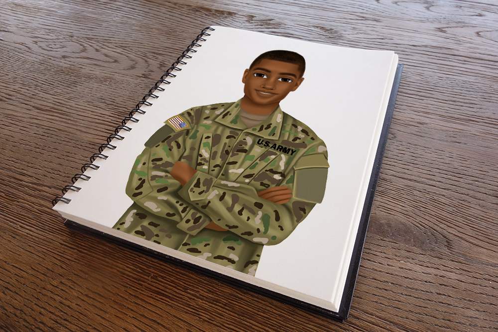 Army Male Sketchbook