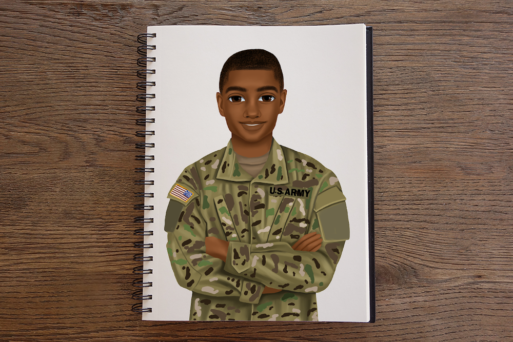 Army Male Notebook