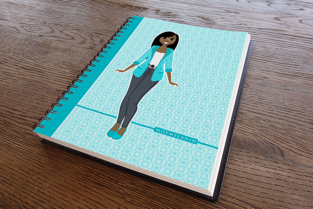 Brilliant In Blue Notebook