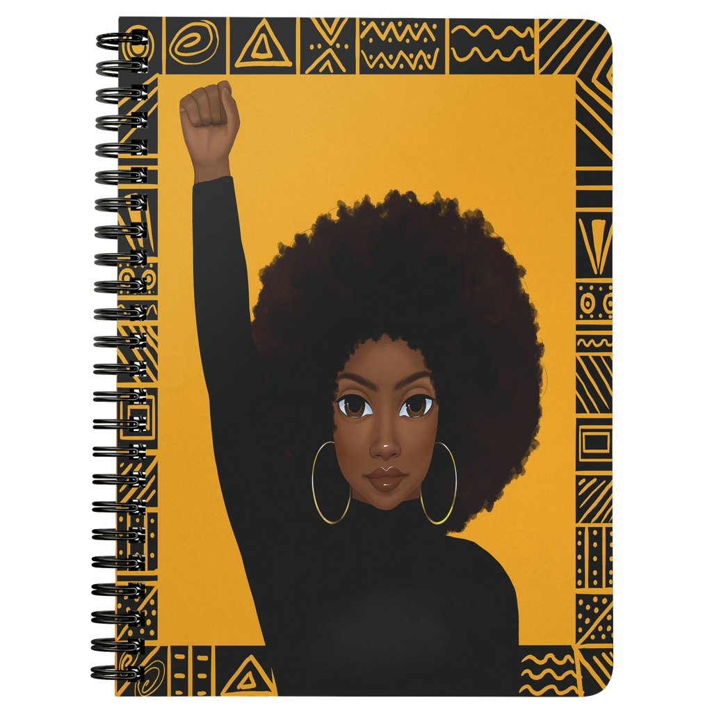Unapologetically Black Female Mini Notebook