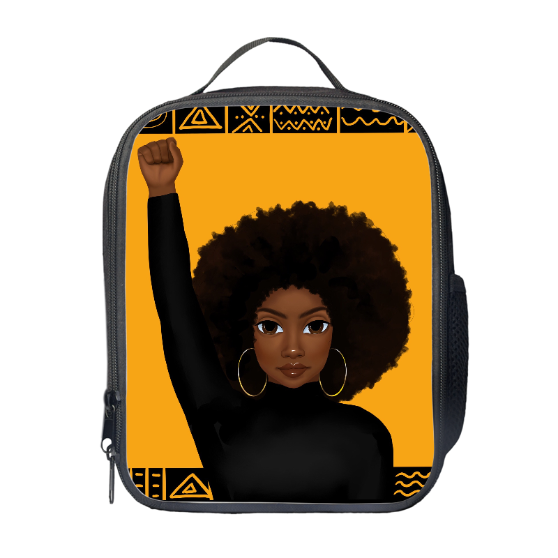 Unapologetically Black (Female) Lunch Bag