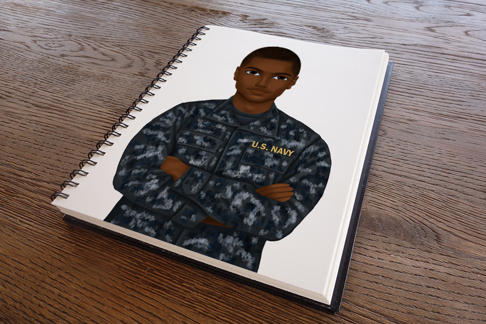 Navy Male Notebook