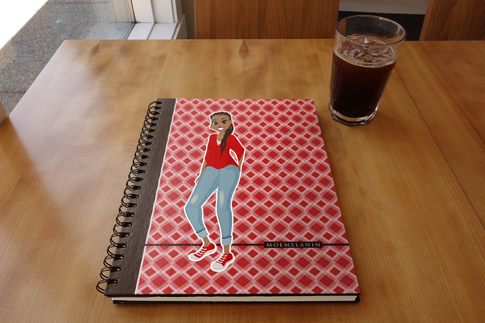 Radiant In Red Notebook