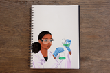 Scientist (Female) Notebook