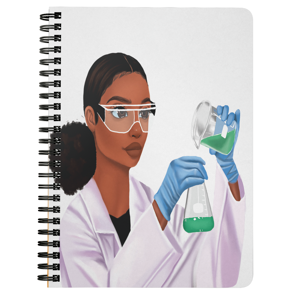 Scientist Female Mini Notebook