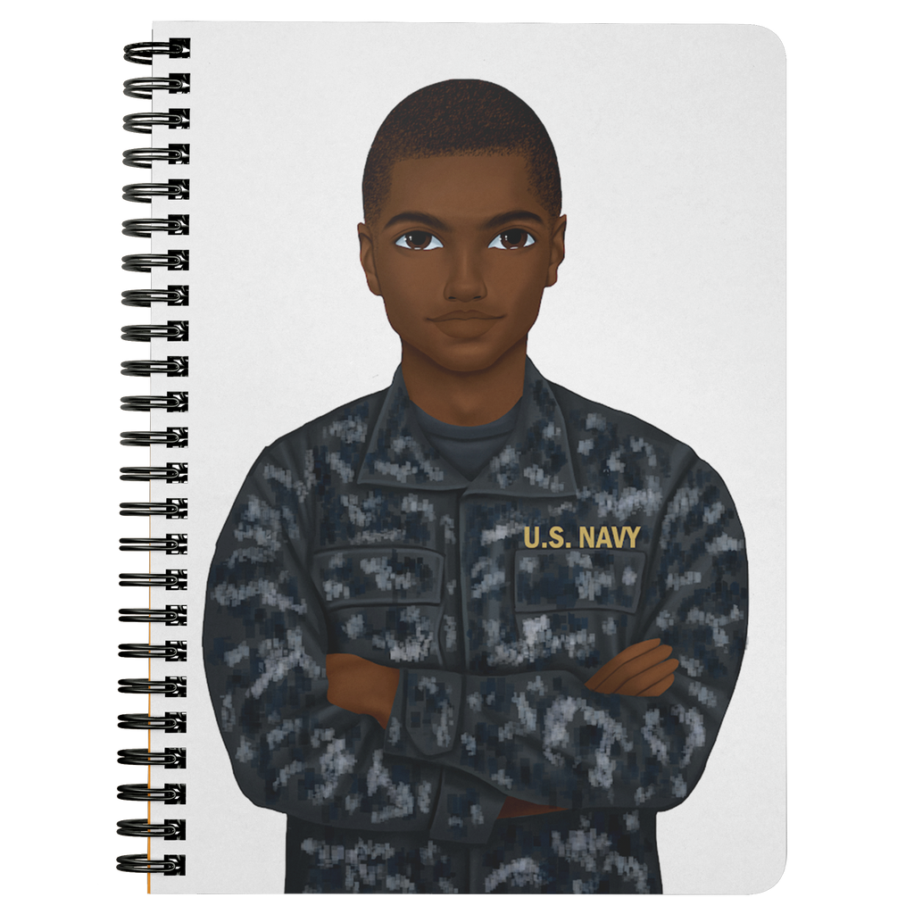 Navy Male Mini Notebook