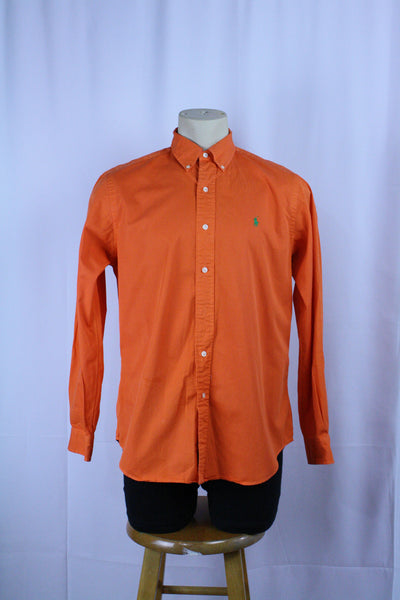 Vintage Orange Polo Button Down (M/L)