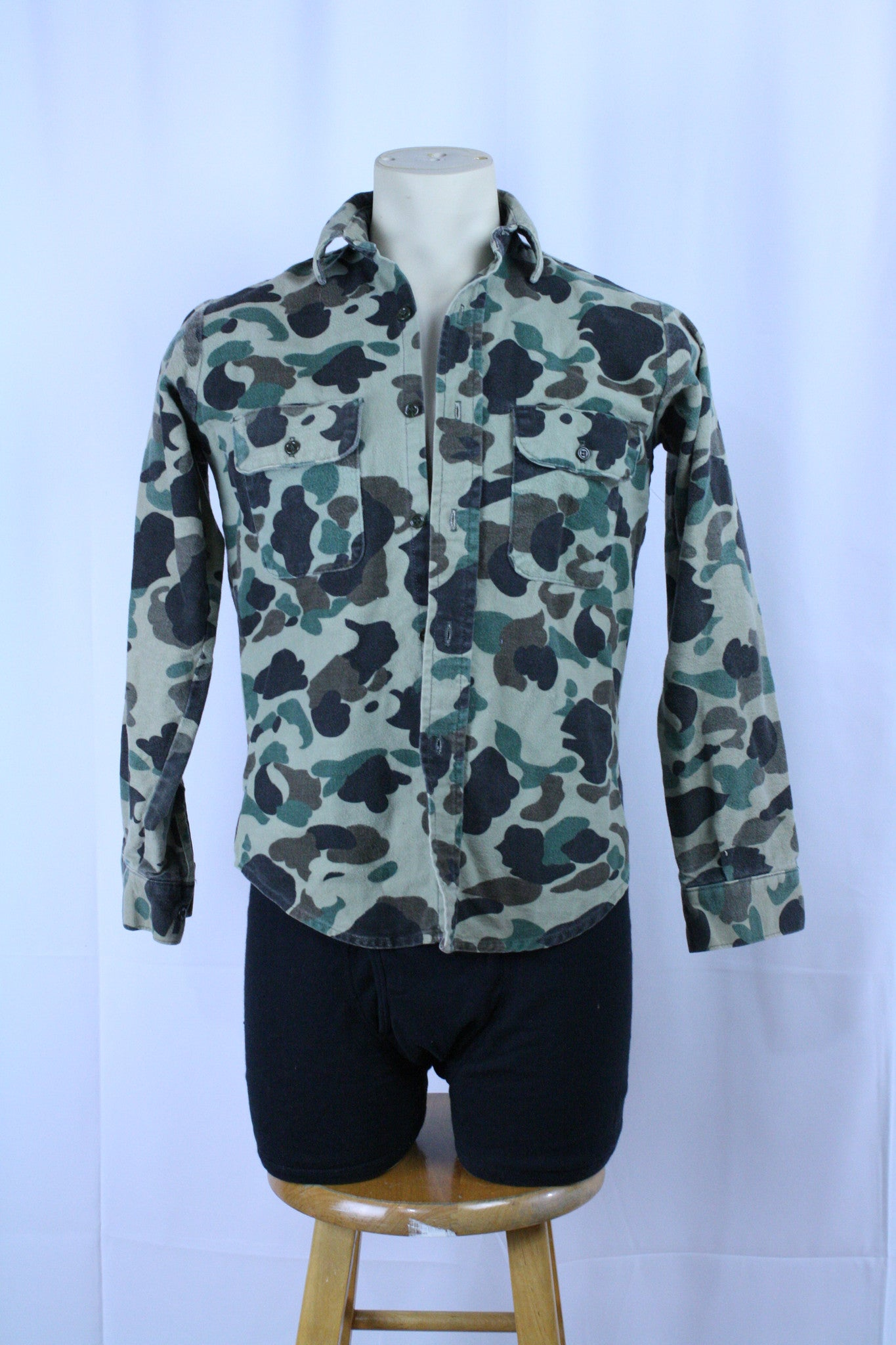 Vintage Duck Camo Button Up (S)