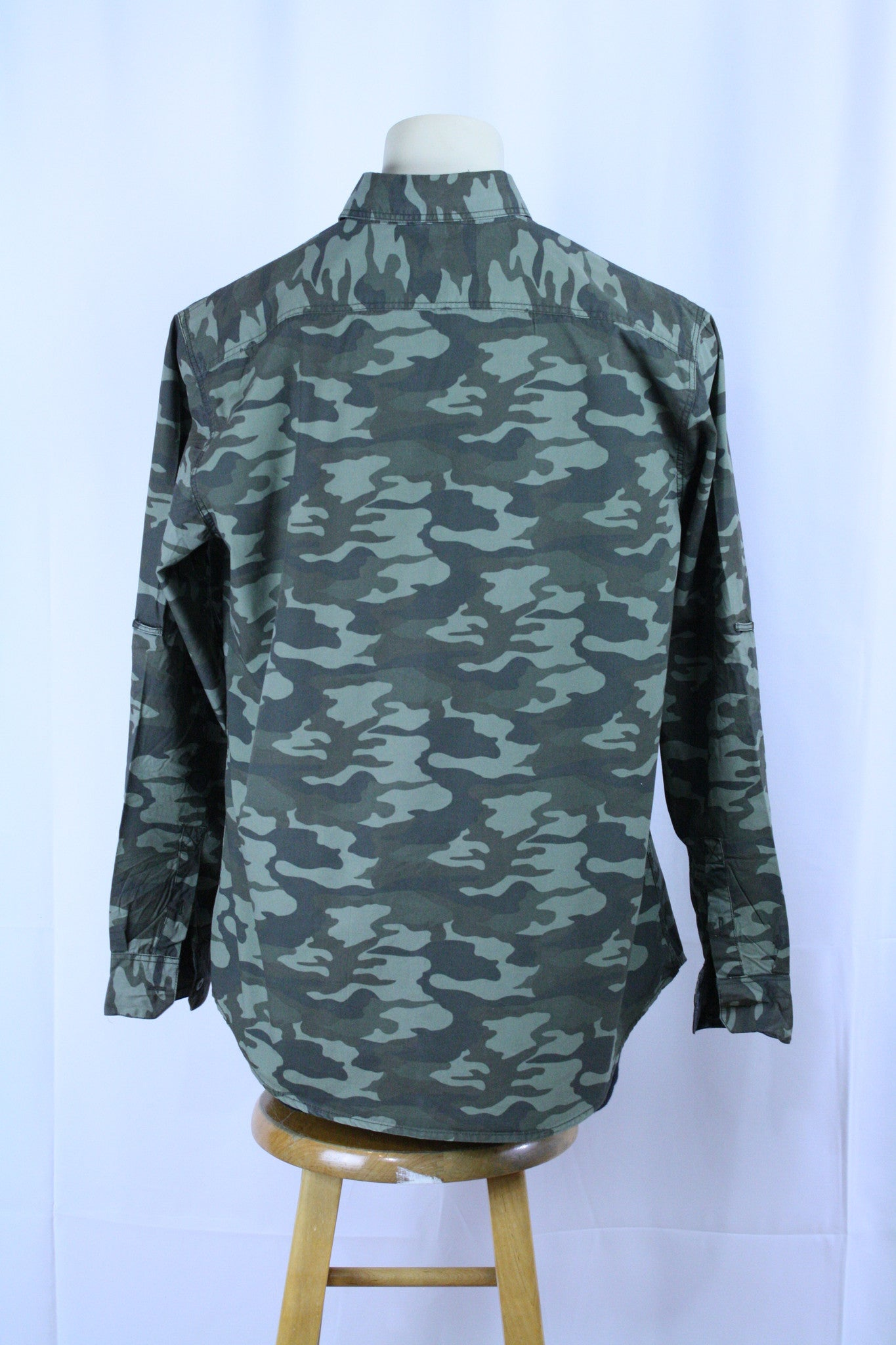 Camo Print Button Up (XL)