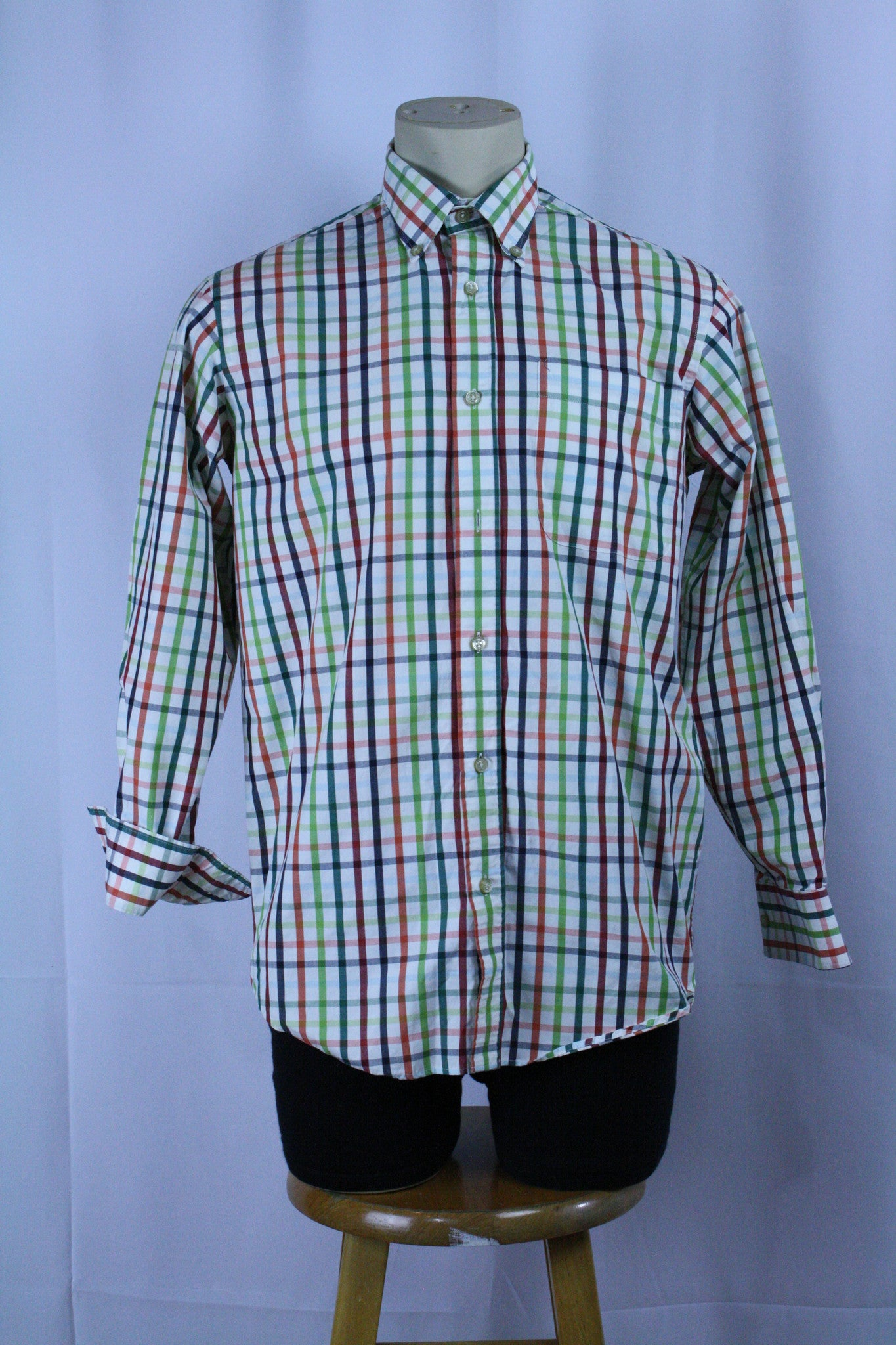 Checkered L/S Button Down (L)