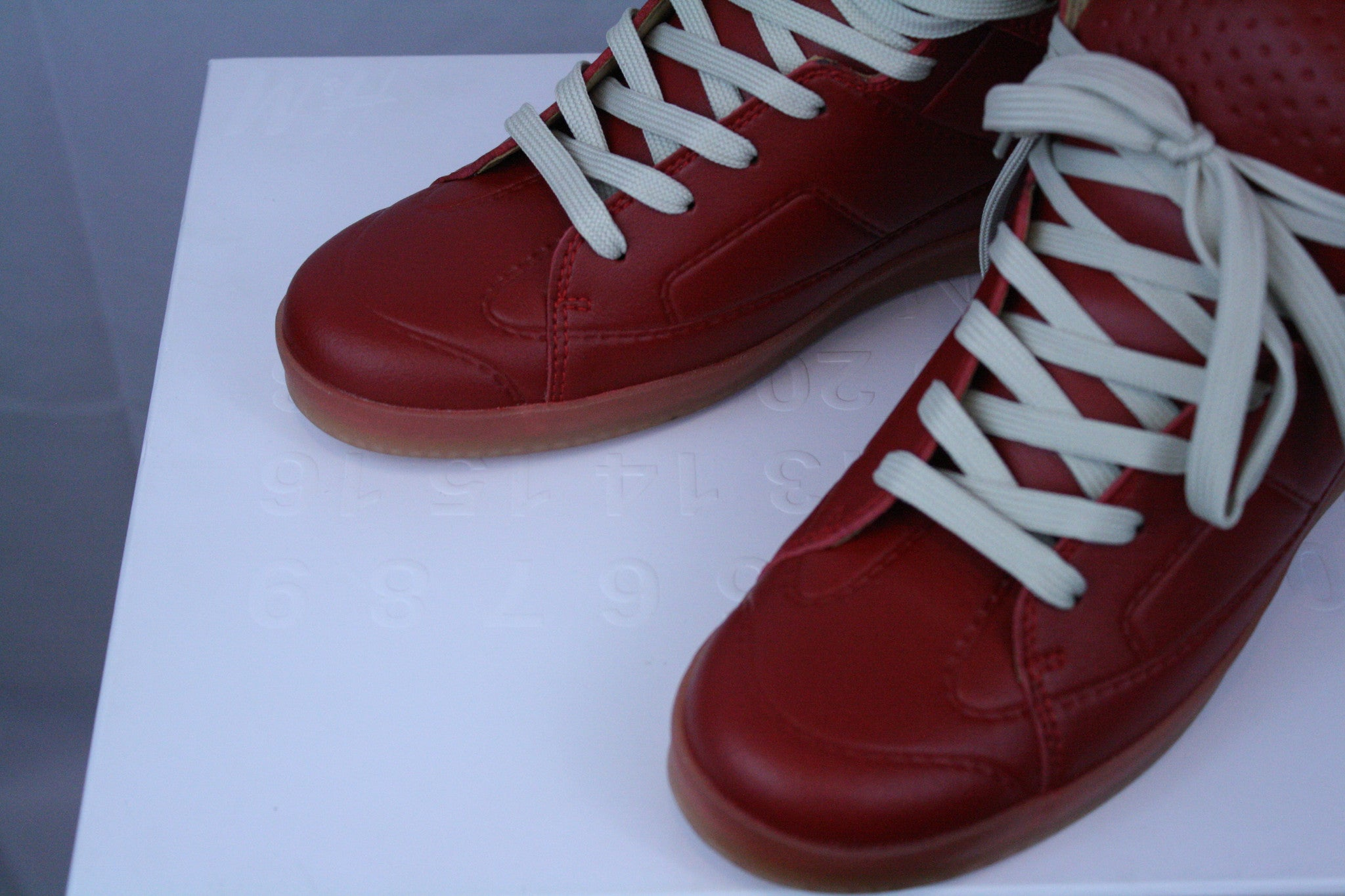 DEADSTOCK Red H&M x Margiela Hi-Top Sneakers (10)