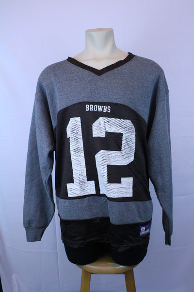 1 of 1 Browns Football Jersey Sweatshirt (XL)