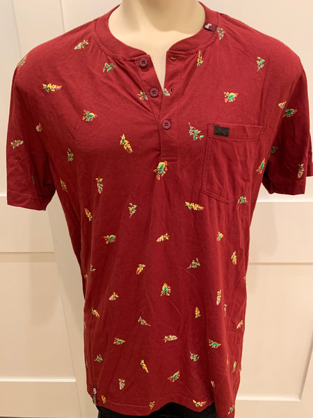 LRG Red 3-Button with Pocket Shirt  (XL)