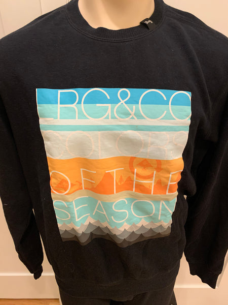 LRG Crew Neck Sweatshirt Black - Medium