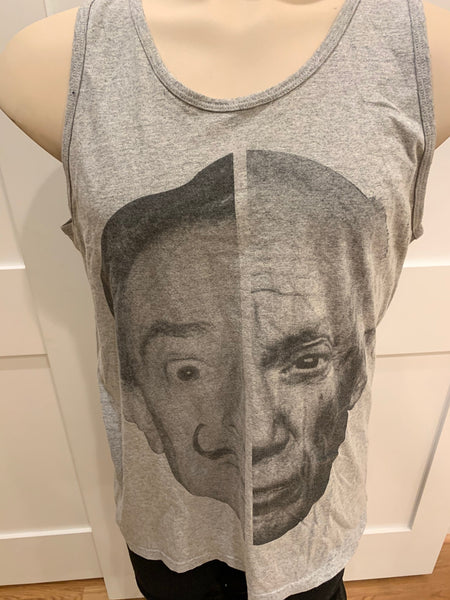 """Face"" Tank Top (Gray) - Large"