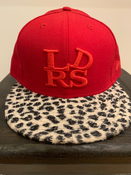 "Leaders 1354 ""Leopard Bill"" Hat - Red  Size 7-5/8"""