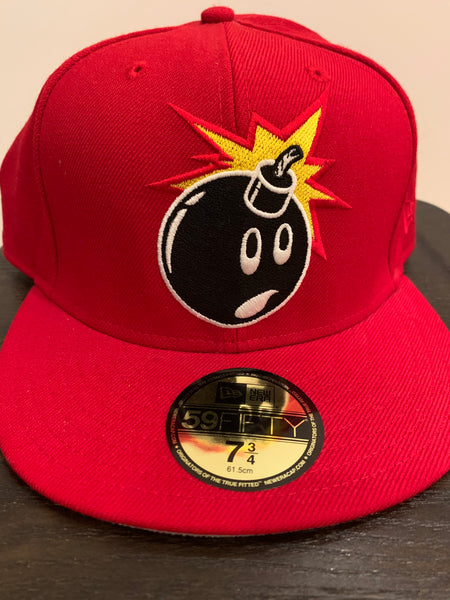 """Bomb"" Hat - Red  Size 7-3/4"""