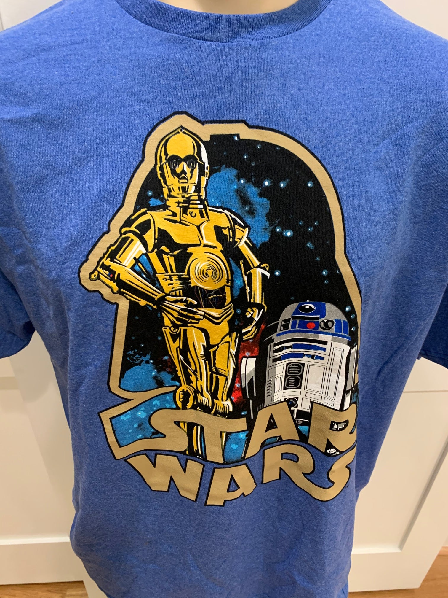 Star Wars R2D2 & C3PO Short Sleeve Tee - Blue (XL)