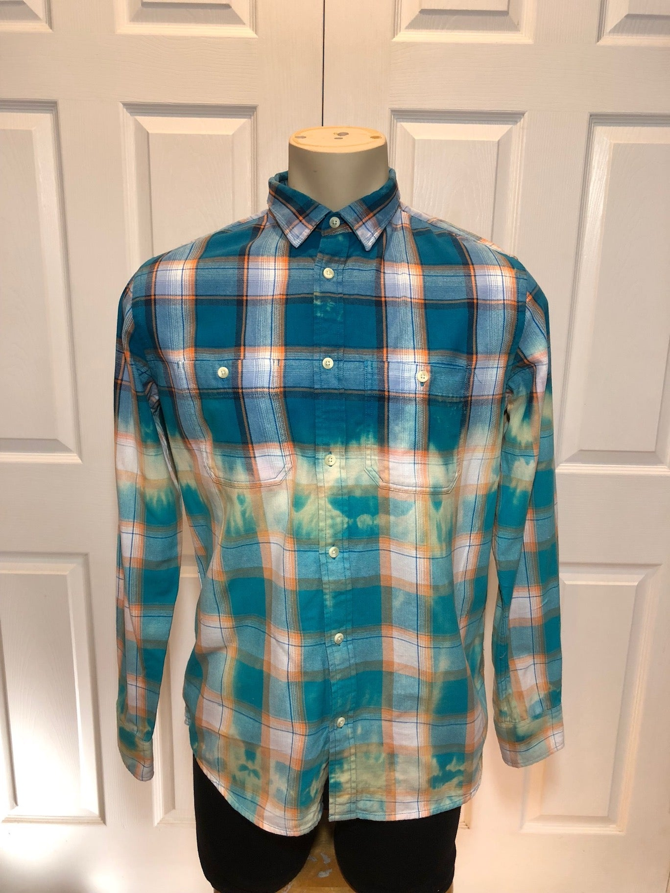 Custom Bleach Dye Flannel (Med)