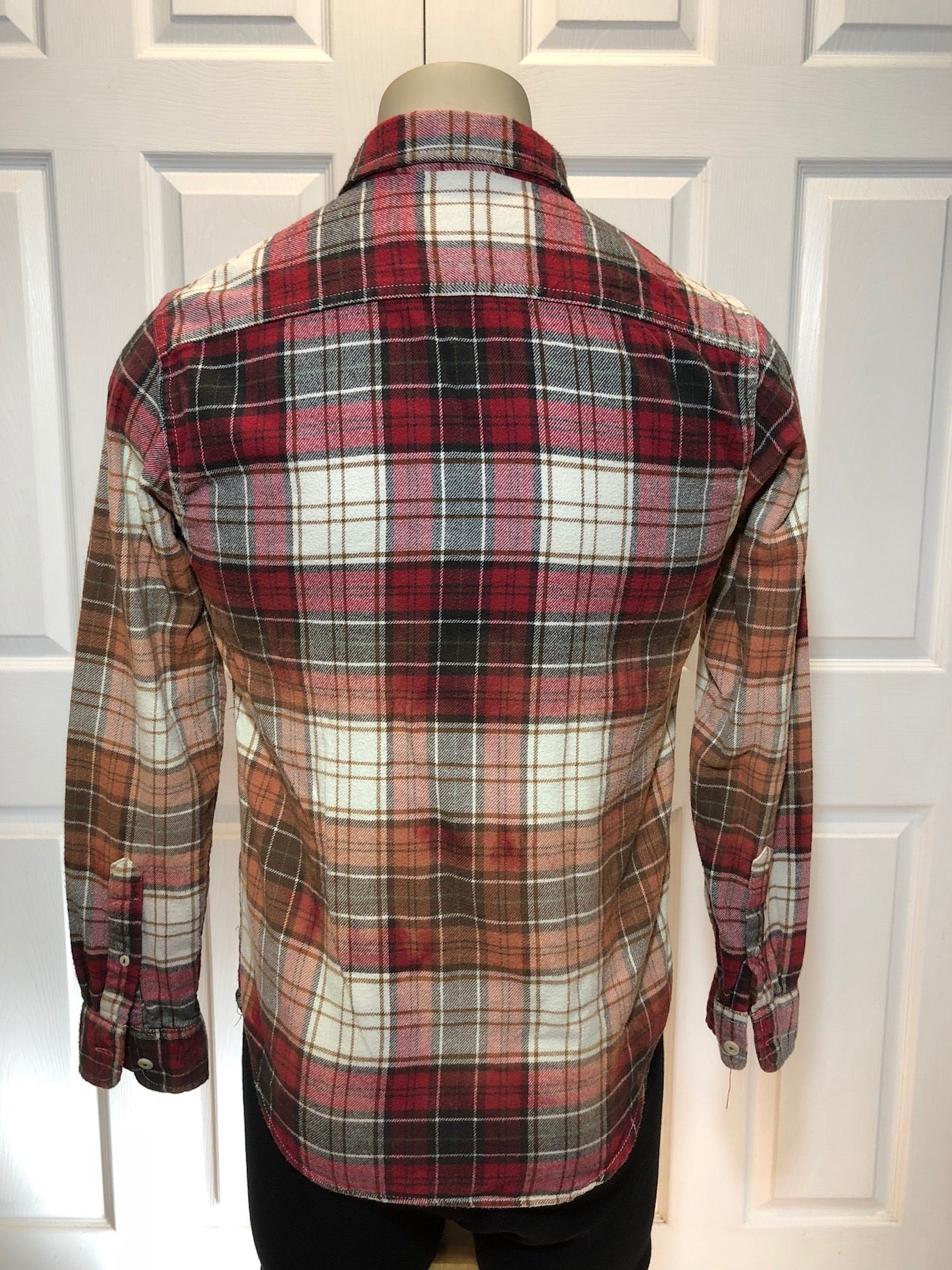 Custom Bleach Dye Flannel (Sm)