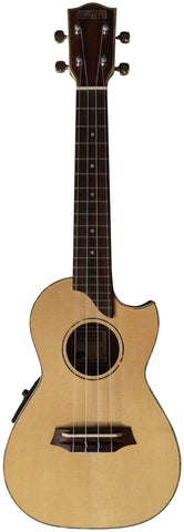 Makai LC-125K Limited Solid Spruce/ Acacia with Pickup Cutaway Concert Ukulele