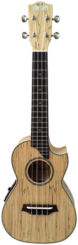 Makai Limited Spalted Maple w/ Pickup Cutaway Concert Ukulele LC-85SM