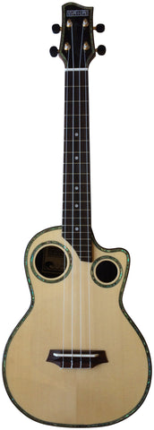 Makai Limited Solid Spruce/Solid Rosewood Cutaway Tenor Ukulele LT-80RD