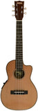 Makai Limited Solid Cedar/Willow Cutaway 5-String Tenor Ukulele w/ Pickup LT-80WX