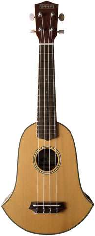 Makai Solid Top Series With White Binding Bell-Shaped Soprano Ukulele MK-70BL