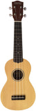Makai Solid Top Series With White Binding Soprano Ukulele MK-70