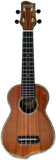 Makai Solid Hawaiian Koa Series Q-Shaped Soprano Ukulele MKQ-24