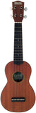 Makai Mahogany Series With Black Binding Soprano Ukulele MKS-60