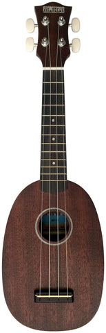 Makai Mahogany Series With Dark Finish Pineapple Soprano Ukulele MP-51