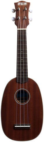 Makai Mahogany Series With White Binding Pineapple Soprano Ukulele MP-61